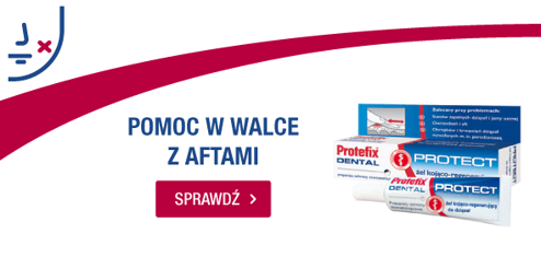 żel kojący do dziąseł protefix dental protect